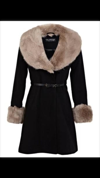 coat black coat fur