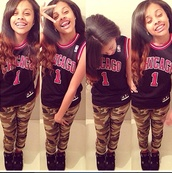 pants,ishania,tank top,chicago bulls,black and red,high top sneakers,curly hair,charm