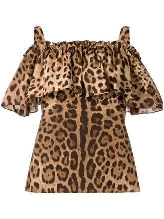 top leopard print top women nude cotton print leopard print