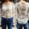 Beige lace long sleeve shirt from whitelily fashion on storenvy