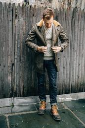 stay classic,blogger,parka,mens coat,duck boots,mens sweater,menswear,mens parka,mens cable knit jumper,coat,jacket,shoes