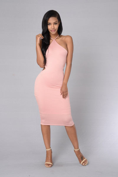 At First Sight Dress - Dusty Pink | Fashion Nova