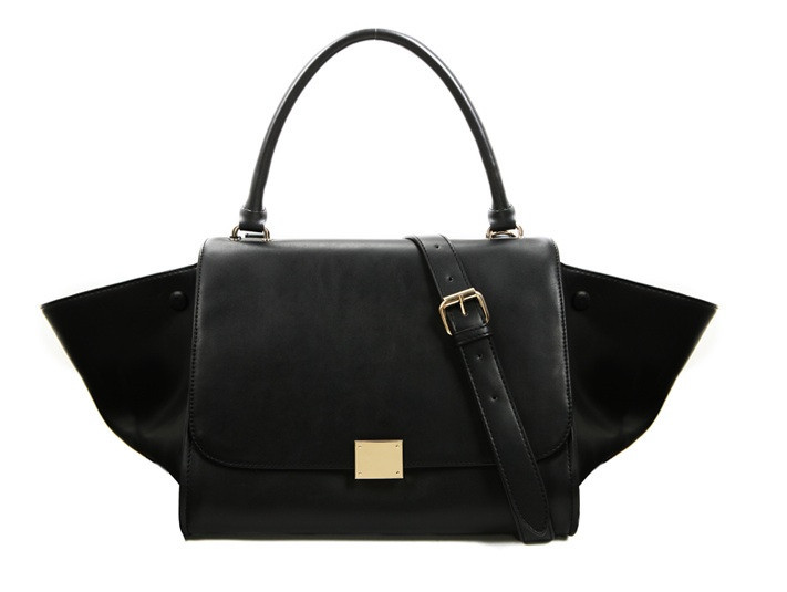Trapeze tote bag ( black) – glamzelle