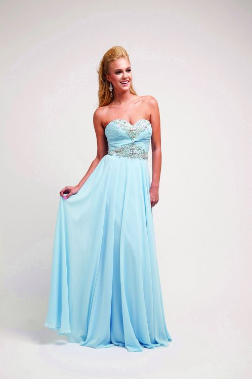 Prom Dresses |  CINCJ95SB SKYBLUE Beaded Strapless Sweetheart Long Sexy Prom Dresses & Winter Formal Dresses - Blue Dresses - SHOP BY COLOR  | 2014 Prom Dresses (Official)
