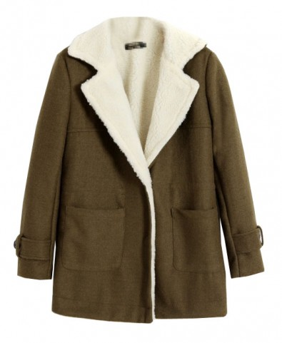 Lapel Collar Thicken Woolen Coat - Jackets & Coats - Clothing