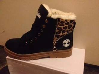 shoes leopard print timberlands