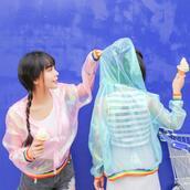 jacket,sheer,mesh,transparent,net,sun protective,spring jacket,hooded jacket,windbreaker,summer jacket,rainbow,transparent jacket,holographic,metallic,see through jacket,dejavucat,harajuku,jfashion,kfashion,korean fashion,korean street fashion,korean street style,asian fashion,xs,petite,36683