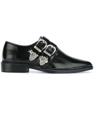 women shoes leather black