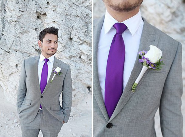 Blouse: suit, purple, grey, wedding clothes - Wheretoget