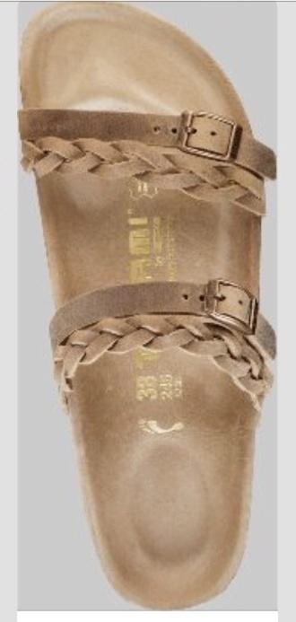 shoes birkenstocks sandals braided