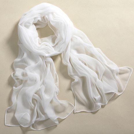 New women's fashion pure color wrap lady shawl stole silk chiffon scarf