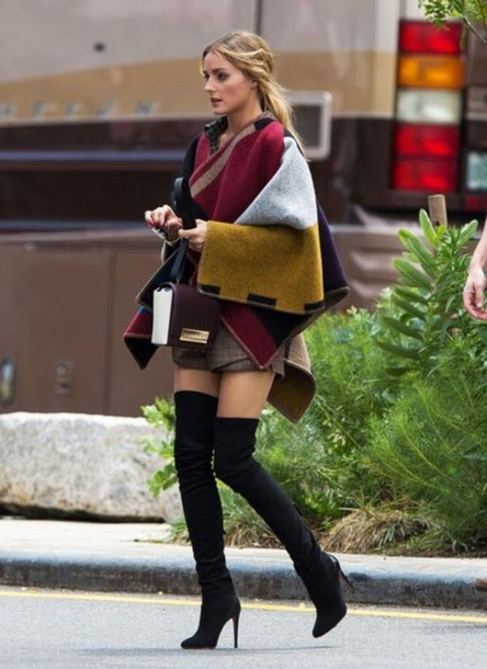 coat olivia palermo boots shoes thigh highs high heels heels heel boots winter outfits fall outfits f/w fall winter chunky high heeled ankle boots chelsea boots jacket cardigan