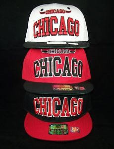 Chicago Bulls Snapback Hat Baseball Cap 3 Color Black Red White ... d4b61b76684