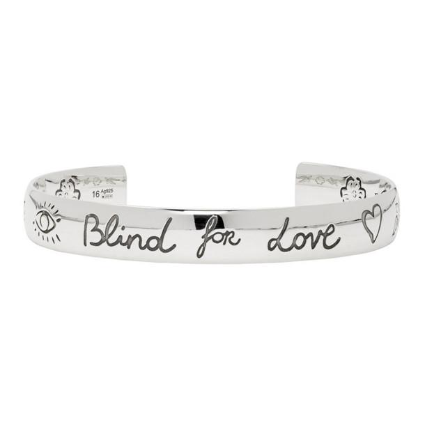 Gucci Silver 'Blind For Love' Bracelet