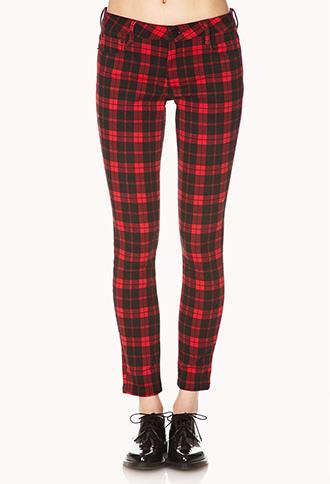 Plaid Skinny Jeans | FOREVER 21 - 2000074330