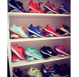 shoes nike running shoes colourful