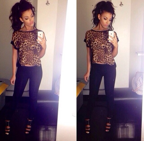 shoes shirt leopard print animal print hott