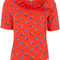 Kenzo - may flowers frill t-shirt - women - cotton - s, red, cotton