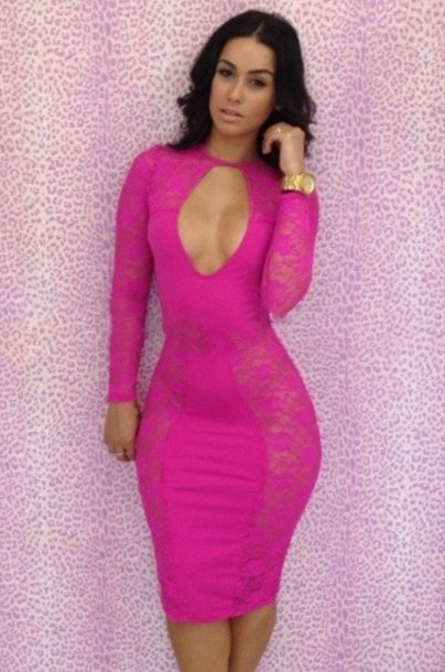 http://picture-cdn.wheretoget.it/l3m08y-l-610x610-dress-sexy-pink-bqueen-fashion-girl-bodycon-party-evening+club-chic-cocktail-floral-enlarge+recently+viewed+bqueen+orange+cut+bodycon+dress+49+00+bqueen+elegant+gre-lace-cut-.jpg Hot Pink Dress For Girls