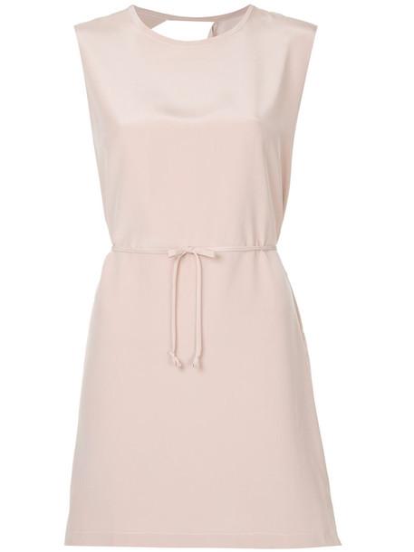 Kacey Devlin dress mini dress mini back women silk purple pink