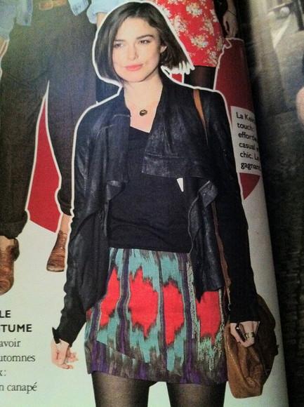 keira knightley grazia skirt