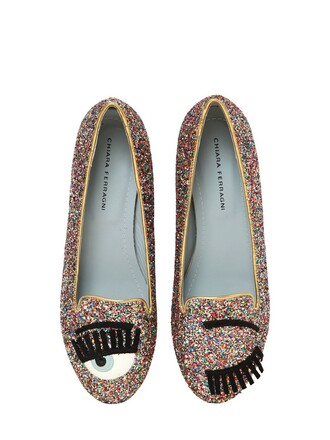 glitter loafers shoes