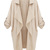 Beige Coat With Half Sleeves - Choies.com