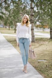 ivory lane,blogger,sweater,jeans,bag,shoes,make-up