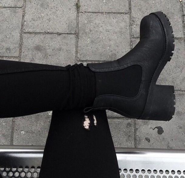 shoes chelsea boots boots black heels high heels