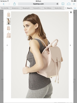 bag cute girly summer backpack blush pink