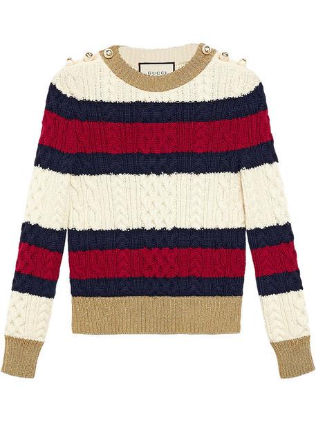 gucci top women wool knit