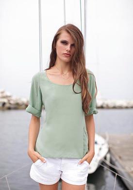 ALPINESTARS by Denise Focil 2012-61007-M-Mint  Clothing & Accessories,Women's Mint Kasbah Silk Top, Women's ALPINESTARS by Denise Focil Tops Clothing & Accessories
