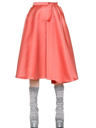 skirt pleated orange