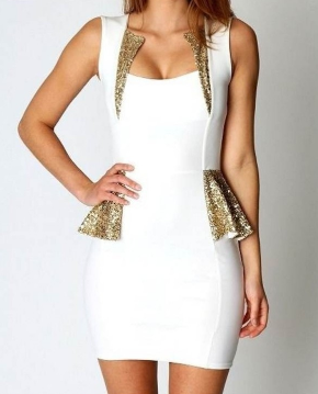 Flouncing Sequined Dress - Juicy Wardrobe