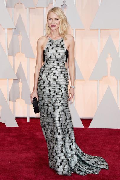 dress oscars 2015 gown naomi watts red carpet dress silver