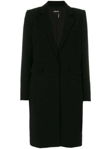 DKNY coat women spandex black