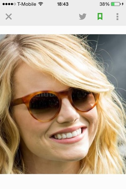 sunglasses emma stone round sunglasses