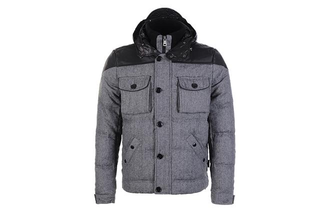 Moncler Men Republique Down Jacket Black Grey