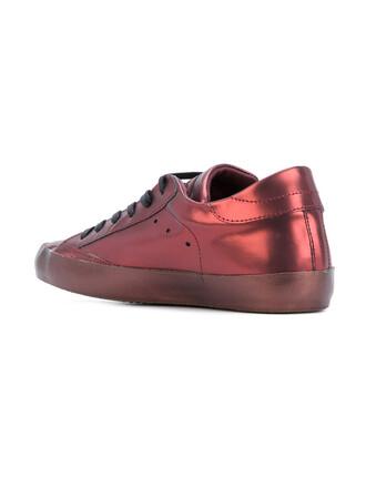 metallic women sneakers leather purple pink shoes