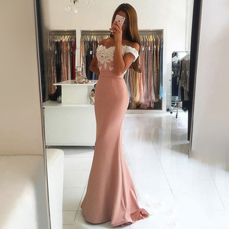 dress dressesofgirl mermaid prom dress long prom dress pink prom dress prom dress lace prom dress backless prom dress off the shoulder prom dresses