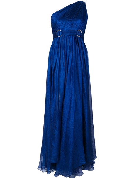 Maria Lucia Hohan gown women spandex blue silk dress