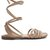 Strappy Wrap Up Sandal - Natural