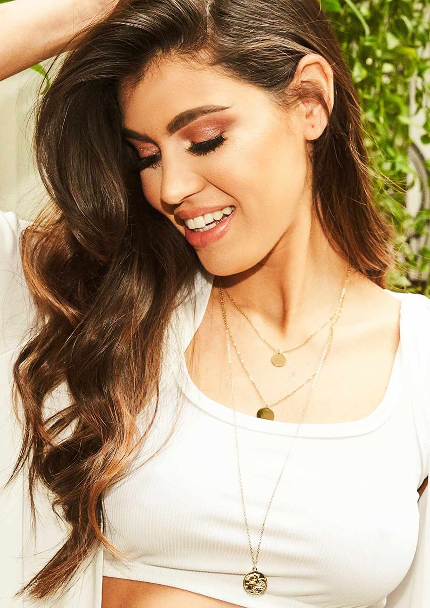 Melissa Gold Layered Pendant Chain Necklace