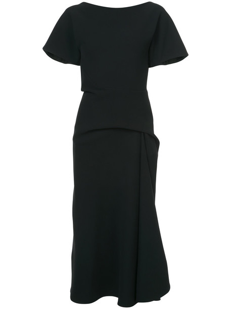 dress midi dress women midi spandex draped black silk