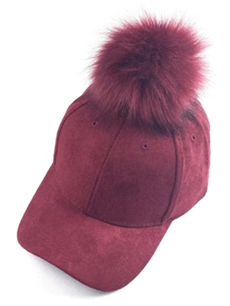 hat cap red puffy cool fashion style trendy burgundy accessories zaful