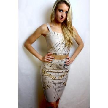 Golden Godess 2 Piece Bandage Dress