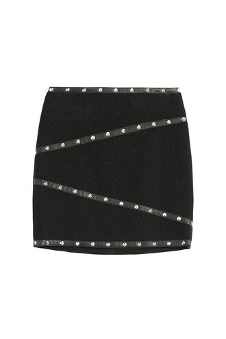 skirt studs mini black