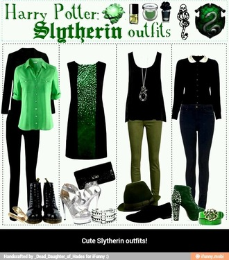 blouse collar white collar black shirt long sleeves collared shirt harry potter slytherin wednesday addams harry potter tshirt