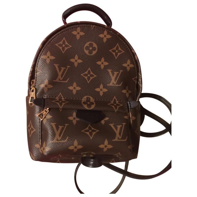 5ff6b87af450b Leder rucksäcke LOUIS VUITTON Braun