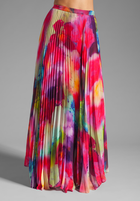 OLIVIA Shannon Printed Maxi Skirt in Jungle Floral at Revolve ...